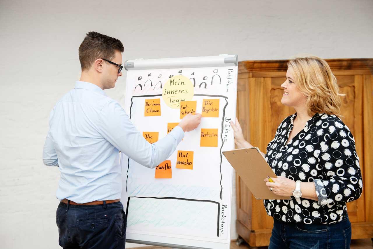 Veränderungs-Coach Corinna Enners coacht junge Führungskraft